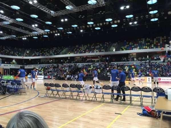 Copper Box Arena, secção: 103, fila: 1, lugar: 55