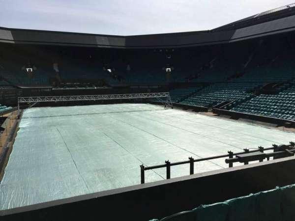 Wimbledon, Centre Court, secção: 207, fila: A, lugar: Aisle Seat
