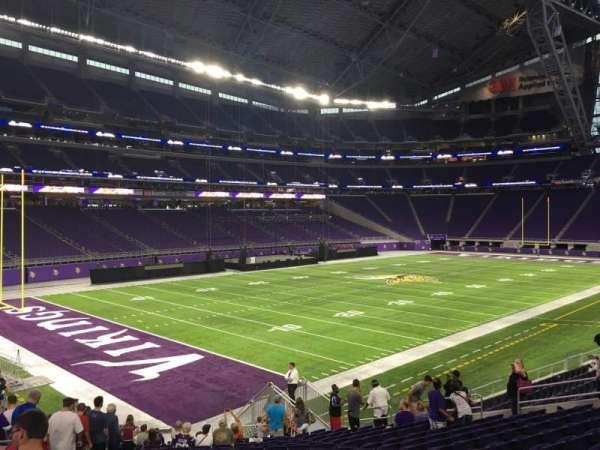 U.S. Bank Stadium, secção: 136, fila: 25, lugar: 25