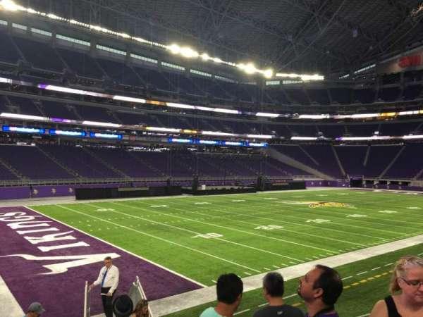 U.S. Bank Stadium, secção: 136, fila: 12, lugar: 5
