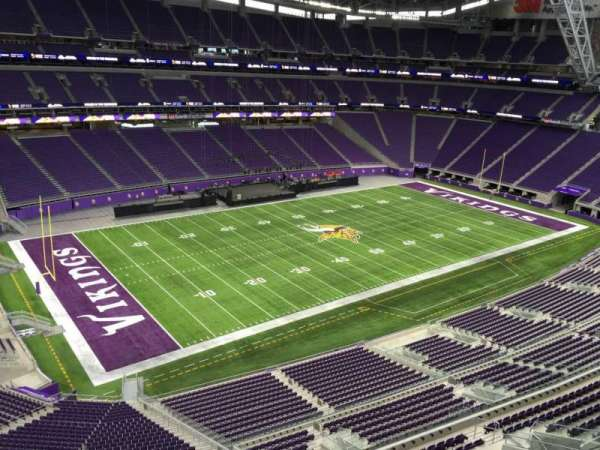U.S. Bank Stadium, secção: 347, fila: B, lugar: 15