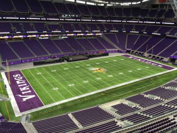 U.S. Bank Stadium, secção: 346, fila: B, lugar: 2