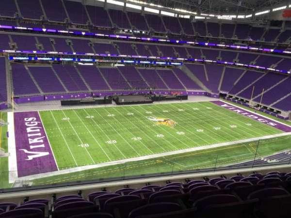 U.S. Bank Stadium, secção: 345, fila: E, lugar: 11