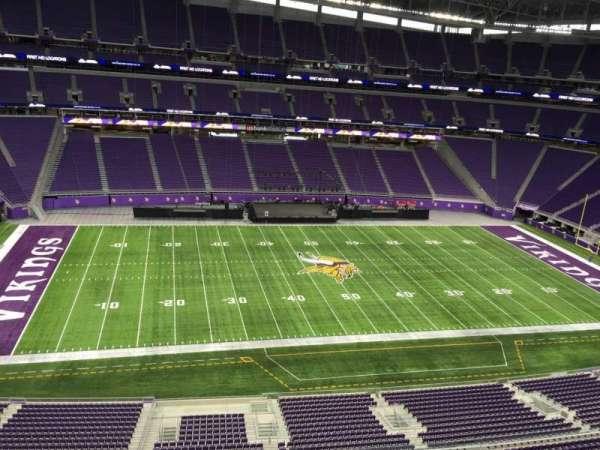 U.S. Bank Stadium, secção: 343, fila: B, lugar: 11