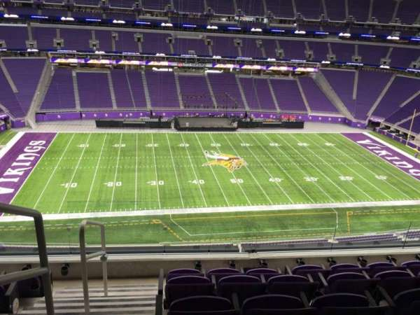 U.S. Bank Stadium, secção: 342, fila: E, lugar: 25