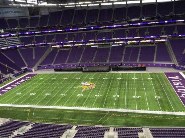 U.S. Bank Stadium, secção: 339, fila: B, lugar: 20