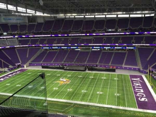 U.S. Bank Stadium, secção: 338, fila: D, lugar: 20