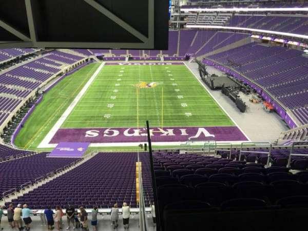 U.S. Bank Stadium, secção: 223, fila: 18, lugar: 6