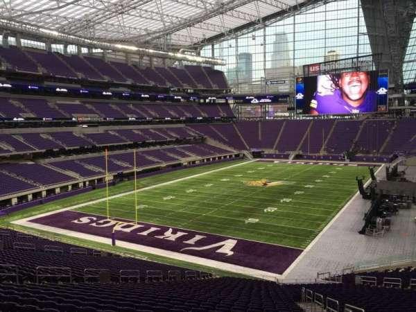 U.S. Bank Stadium, secção: 116, fila: 39, lugar: 3