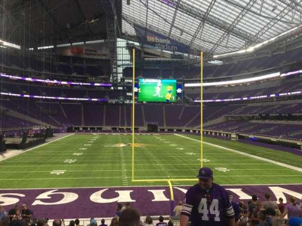 U.S. Bank Stadium, secção: 142, fila: 16, lugar: 9