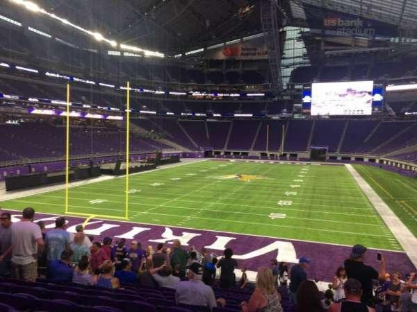 U.S. Bank Stadium, secção: 140, fila: 21, lugar: 13