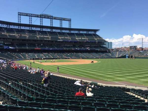 Coors Field, secção: 113, fila: 22, lugar: 5