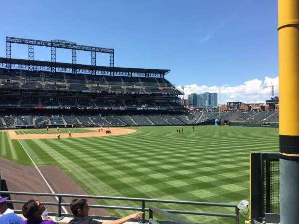 Coors Field, secção: 110, fila: 24, lugar: 1