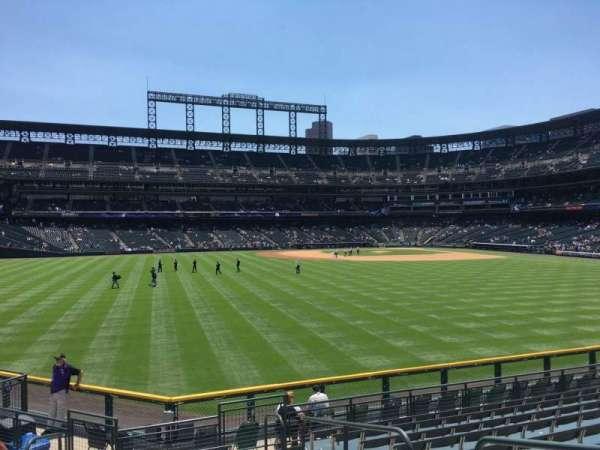 Coors Field, secção: 157, fila: 12, lugar: 4