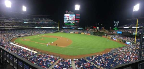 Citizens Bank Park, secção: 213, fila: 1, lugar: 1