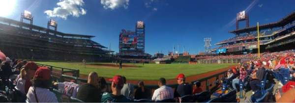 Citizens Bank Park, secção: 114, fila: 4, lugar: 5