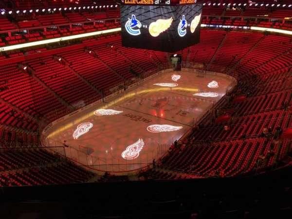 Little Caesars Arena, secção: 231, fila: 6, lugar: 19