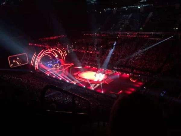 Manchester Arena, secção: 206, fila: Q, lugar: 1