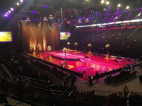 Manchester Arena, secção: 106, fila: Q, lugar: 6