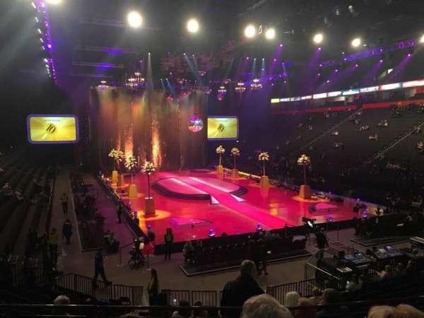 Manchester Arena, secção: 107, fila: Q, lugar: 9