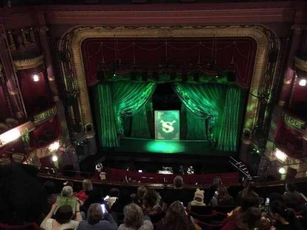 Palace Theatre (Manchester), secção: Grand Tier, fila: H, lugar: 22