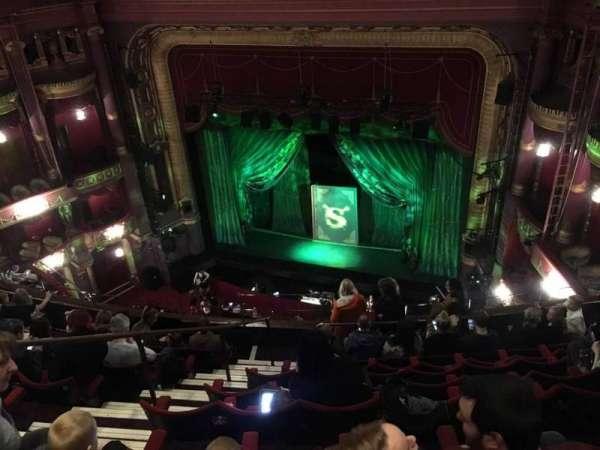 Palace Theatre (Manchester), secção: Grand Tier, fila: H, lugar: 12