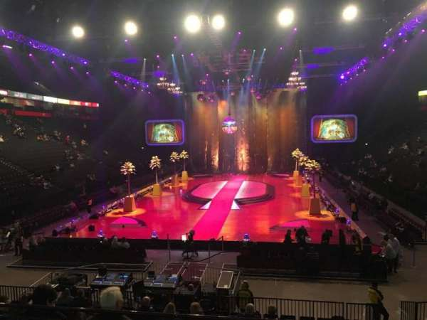 Manchester Arena, secção: 109, fila: P, lugar: 10