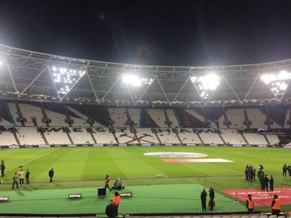 London Stadium, secção: 107, fila: 20