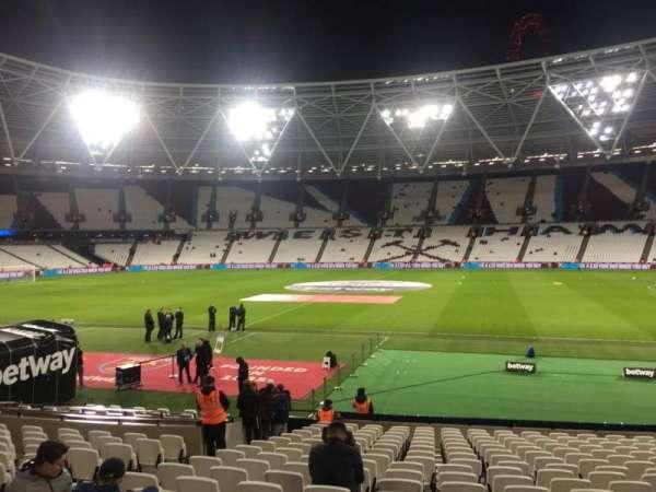 London Stadium, secção: 110, fila: 19