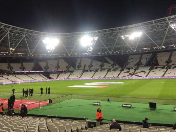 London Stadium, secção: 112, fila: 18