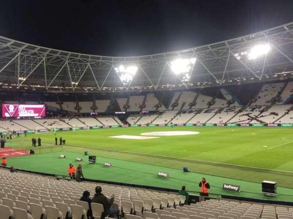 London Stadium, secção: 114, fila: 20