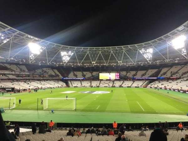London Stadium, secção: 125, fila: 22