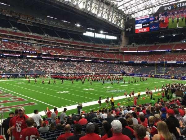 NRG Stadium, secção: 132, fila: R, lugar: 1