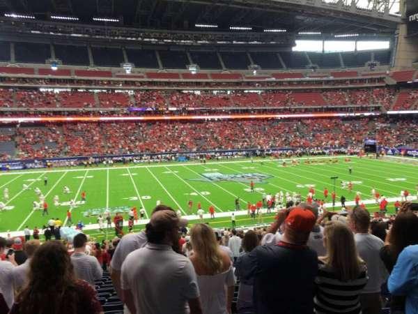 NRG Stadium, secção: 108, fila: Hh, lugar: 18