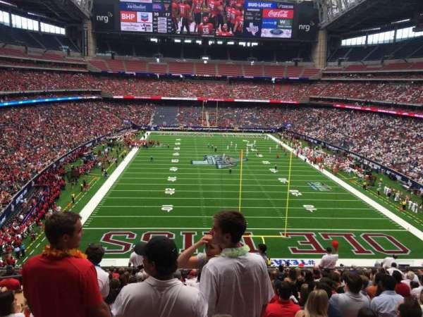 NRG Stadium, secção: 324, fila: Q, lugar: 19