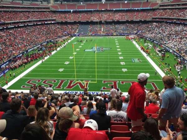 NRG Stadium, secção: 323, fila: Q, lugar: 14