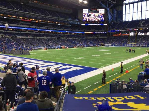 Lucas Oil Stadium, secção: 121, fila: 11, lugar: 14
