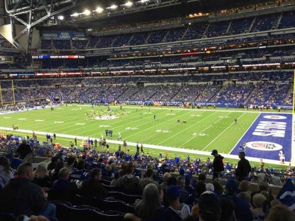 Lucas Oil Stadium, secção: 209, fila: 13, lugar: 2