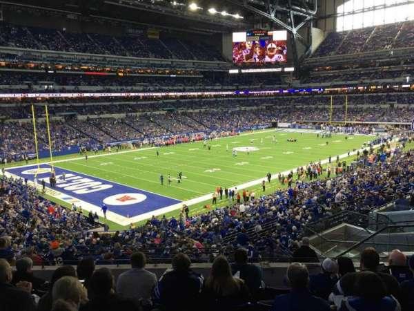 Lucas Oil Stadium, secção: 247, fila: 7, lugar: 8