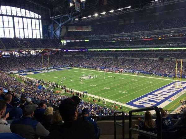 Lucas Oil Stadium, secção: 334, fila: 5, lugar: 1