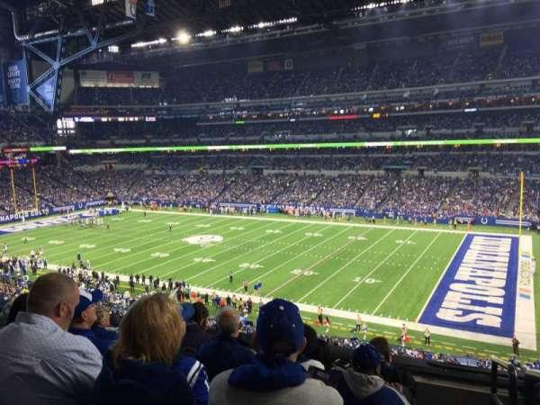 Lucas Oil Stadium, secção: 336, fila: 5, lugar: 1