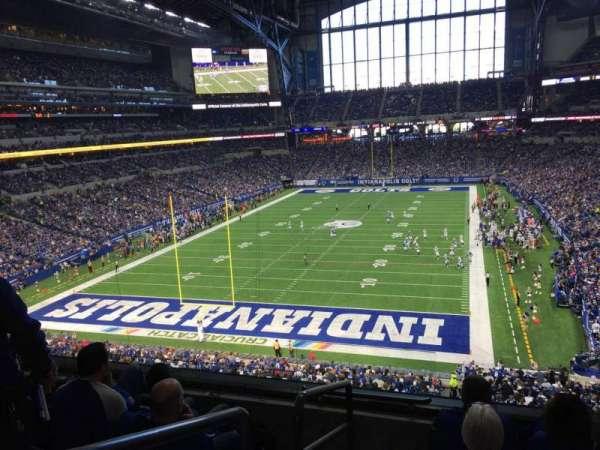 Lucas Oil Stadium, secção: 324, fila: 4, lugar: 20