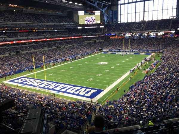 Lucas Oil Stadium, secção: 422, fila: 2, lugar: 1
