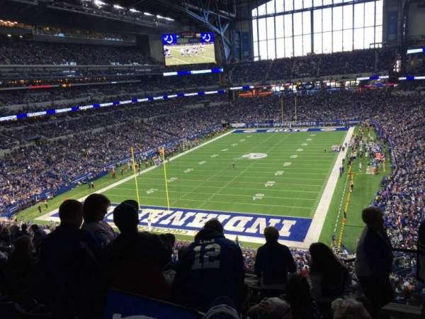 Lucas Oil Stadium, secção: 424, fila: 6, lugar: 1