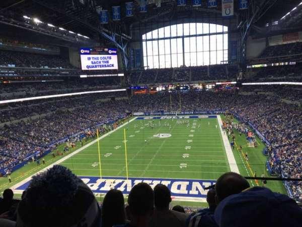 Lucas Oil Stadium, secção: 425, fila: 6, lugar: 1