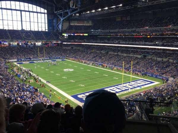 Lucas Oil Stadium, secção: 431, fila: 7, lugar: 1