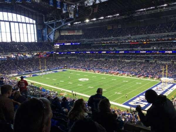 Lucas Oil Stadium, secção: 434, fila: 8, lugar: 1