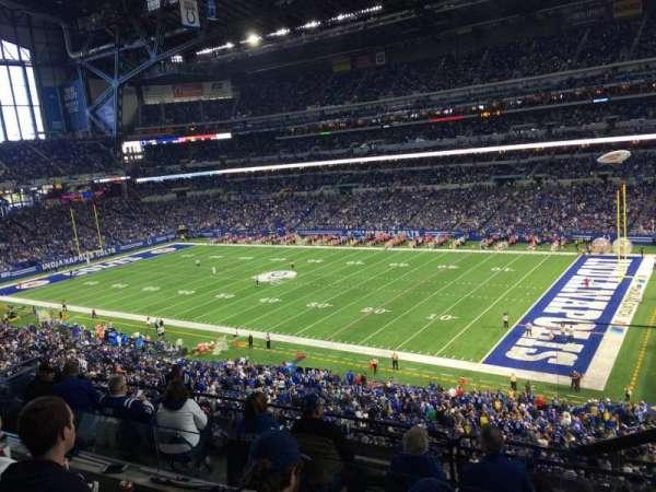 Lucas Oil Stadium, secção: 435, fila: 3, lugar: 1