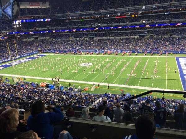 Lucas Oil Stadium, secção: 437, fila: 4, lugar: 1