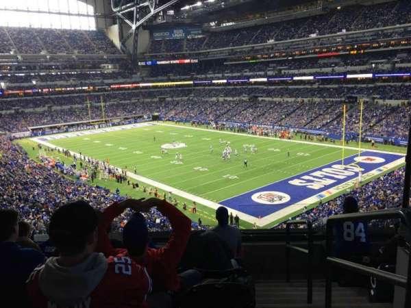 Lucas Oil Stadium, secção: 306, fila: 5, lugar: 1